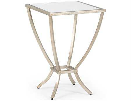 Chelsea House 14 Square Antique Silver Harper Side Table