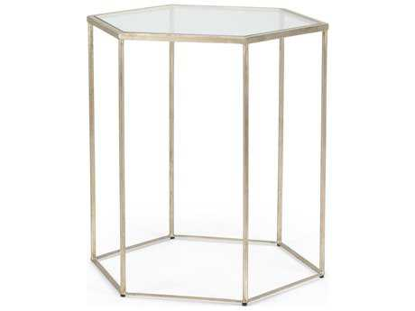 Chelsea House Riggins Antique Silver 24''L x 21''W Octagon End Table