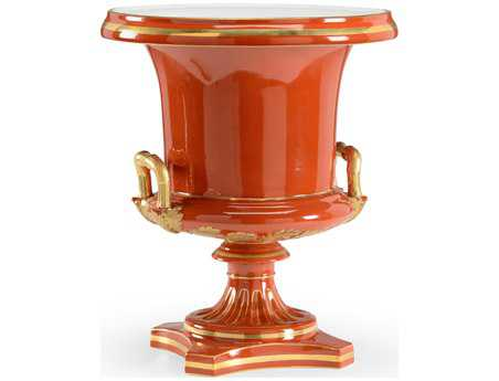 Chelsea House Bright Red Glaze With Gold Accents Porcelain Patrick Vase