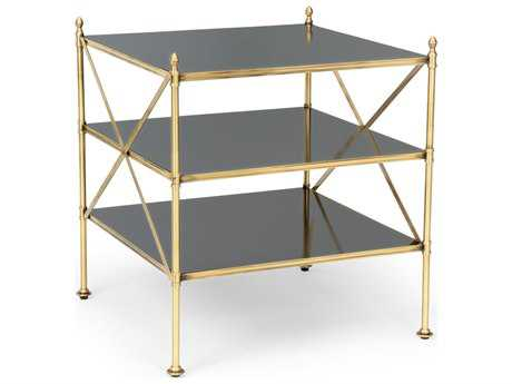 Chelsea House Rampart Antique Brass 25'' Wide Square End Table