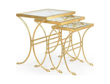 Chelsea House 18 x 24 Rectangular  Antique Gold Lifton Nesting Tables