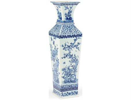 Chelsea House Blue White Porcelain Large Nanking Vase