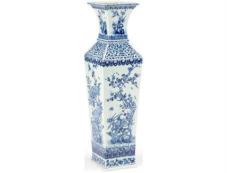 Chelsea House Blue White Porcelain Large Nanking Vase