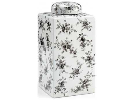 Chelsea House Cabbage Rose Porcelain Jar
