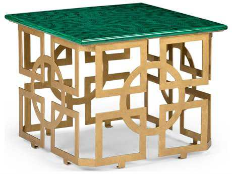 Superior Chelsea House Marbrough Antique Gold With Malachite 22u0027u0027 Wide Square End  Table