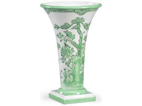 Chelsea House Green & White Porcelain Vase