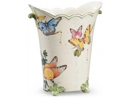Chelsea House White Glaze Butterfly Vase