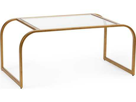 Chelsea House Everest Antique Gold 37''L x 22''W x 17.5''H Rectangular Cocktail Table