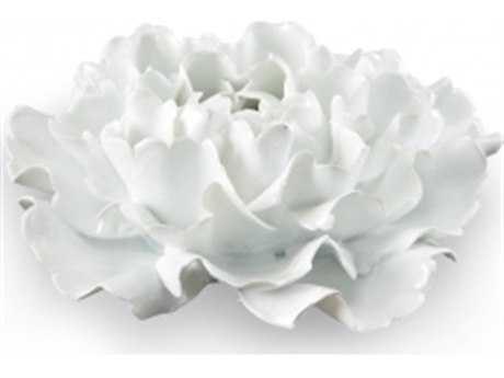 Chelsea House White Glaze Large Lotus Flower White Sculpture