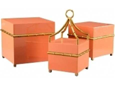 Chelsea House Orange Square Bamboo Boxes