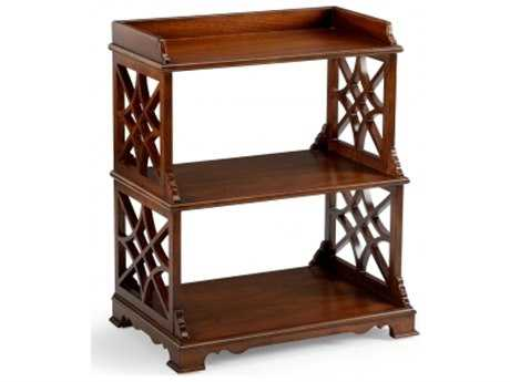 Chelsea House Mahogany 23.5 x 28.25 Two-Shelf Bookcase