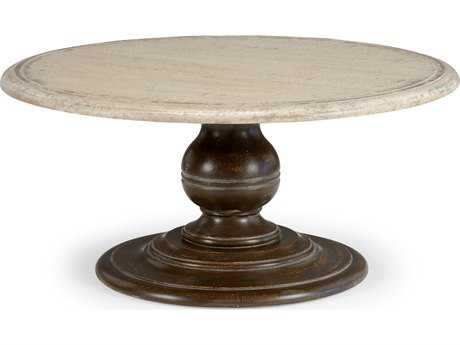 Chelsea House Carson Bark with Oak Ivory 42'' Wide Round Coffee Table