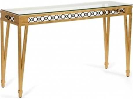 Chelsea House Palm Beach Gold Console Table