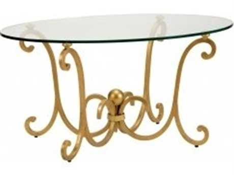 Chelsea House Pisa 42 x 20 Oval Antique Gold Coffee Table