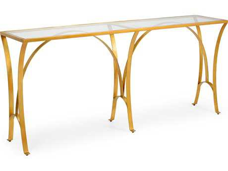 Chelsea House Louisville Gold Leaf 81''L x 18''W Rectangular Console Table