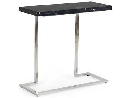 Chelsea House New York Nickel with Black Marble 35''L x 14''W Rectangular Console Table