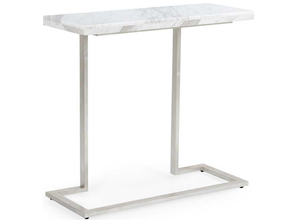 Chelsea house new york antique silver leaf with white for 35 console table