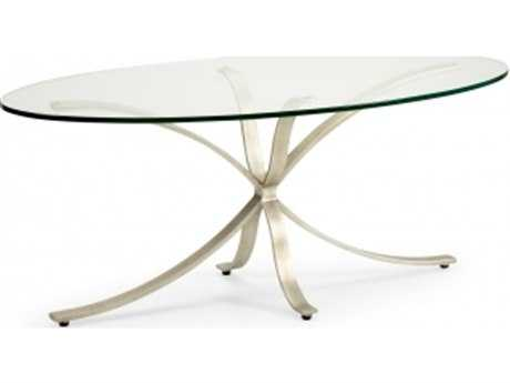 Chelsea House London 48 x 19.5 Oval Silver Coffee Table
