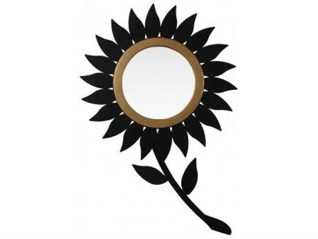 Chelsea House Sunflower Black Wall Mirror