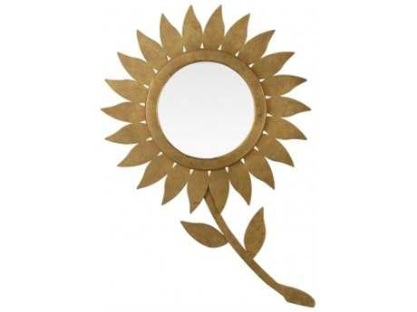 Chelsea House Sunflower Gold Wall Mirror
