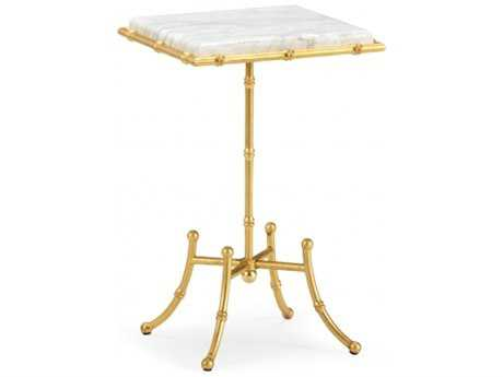 Chelsea House Allen 12 x 19 Square Gold End Table