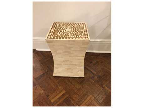 Chelsea House Bristol 13'' Square Gold End Table