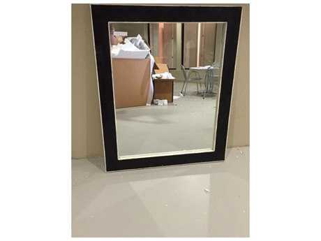 Chelsea House Sterling 39 x 48 Black Wall Mirror