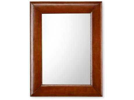 Chelsea House Bowie Brown Leather Wall Mirror