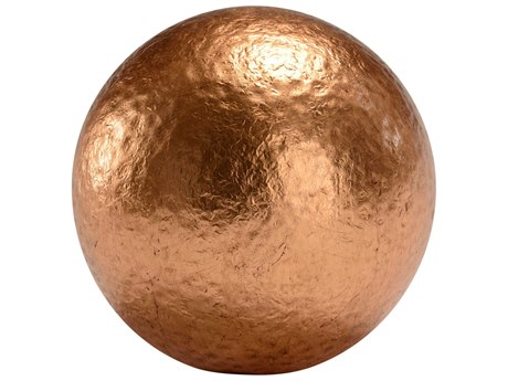 Chelsea House Hammered Large Copper Ball Decorative Accent