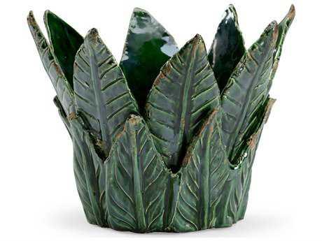 Chelsea House Leaf Cachepot Dark Green Bowl