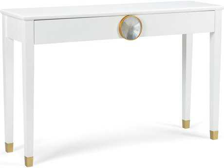 Chelsea House Hope House White 50''L x 14''W Rectangular Console Table