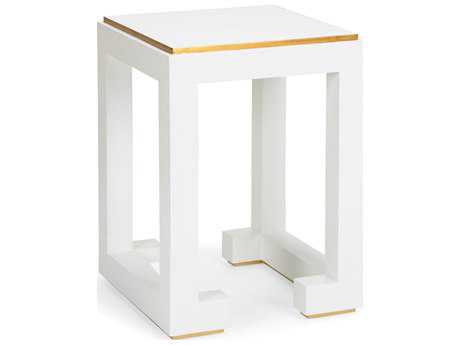 Chelsea House Chow Off White 18'' Wide Square End Table