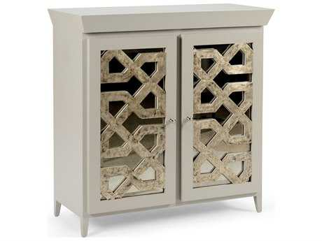 Chelsea House Lattice Taupe with Antique Silver Accent Chest