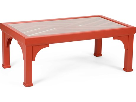 Chelsea House Bolton Red 48.5'' x 28.5'' Rectangular Cocktail Table
