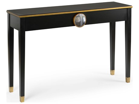 Chelsea House Hope House Black 50.25'' x 14.25'' Rectangular Console Table