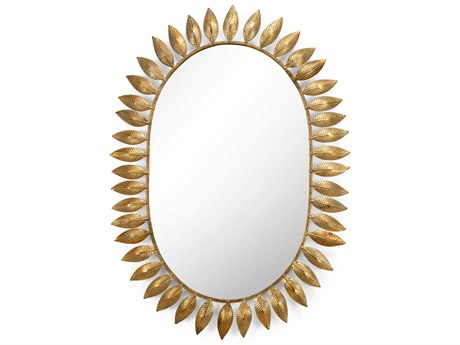 Chelsea House Victoria Gold 21.5'' x 30'' Oval Wall Mirror