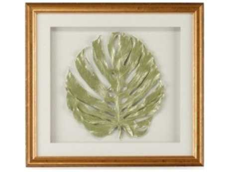Chelsea House Monstera Leaf In Sage Pearl Painting