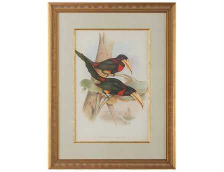 Chelsea House Wood Frame With Old Gold Tropical Toucans VII