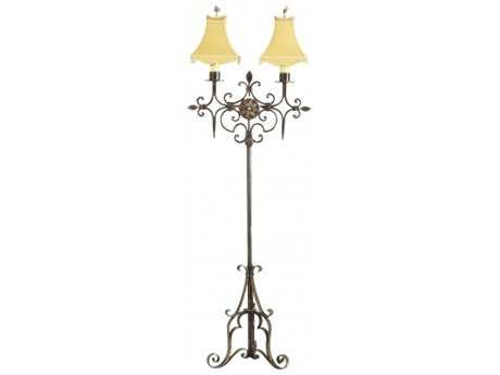 Chelsea House Candelabra Faux Bronze Floor Lamp