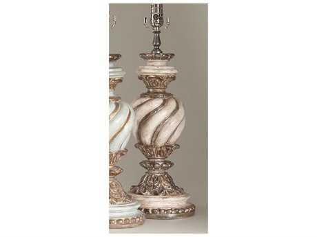 Chelsea House Trenton Antique White & Silver Table Lamp