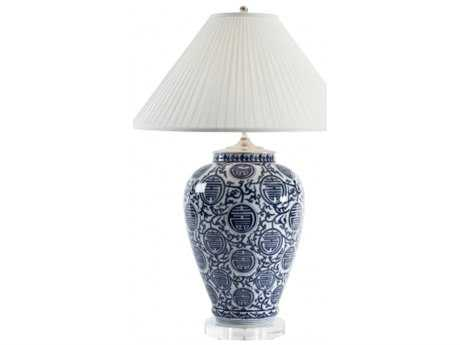 Chelsea House Queens Gate Blue And White Vase Lamp