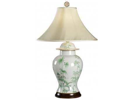 Chelsea House Green Chinoisere Black Jar Table Lamp