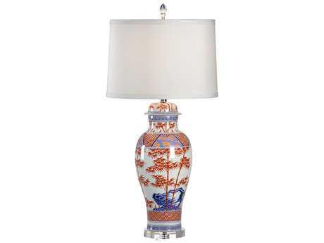 Chelsea House Greek Key White, Red & Blue Buffet Lamp