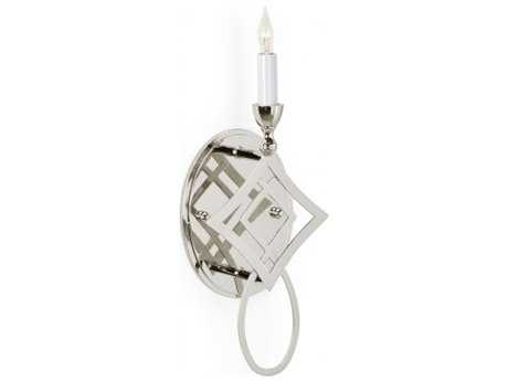 Chelsea House Diamond Polished Nickel Wall Sconce