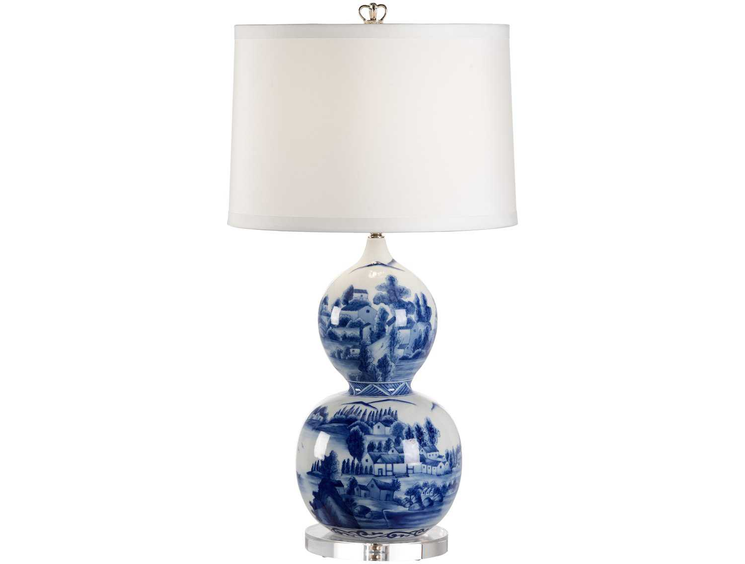 Chelsea House Scenic Blue Vase Table Lamp Ch68695