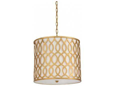 Chelsea House Gold Three-Light Pendant Light