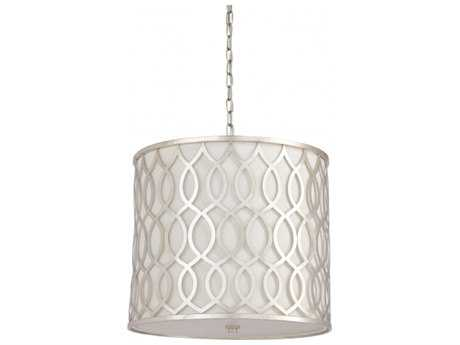 Chelsea House Antique Silver Three-Light Pendant Light