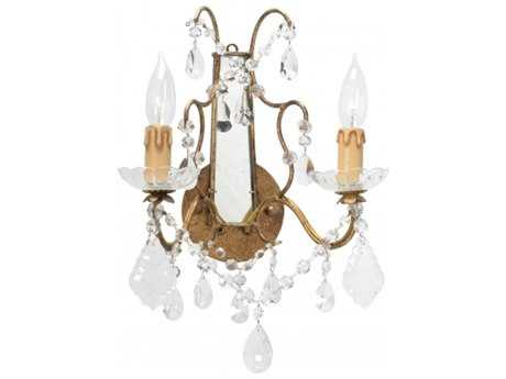 Chelsea House Dark Antique Gold Two-Light Wall Sconce