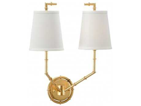 Chelsea House Bamboo Gold Two-Light Wall Sconce