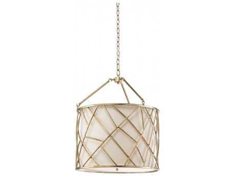 Chelsea House Chester Silver Three-Light 22'' Wide Pendant Light